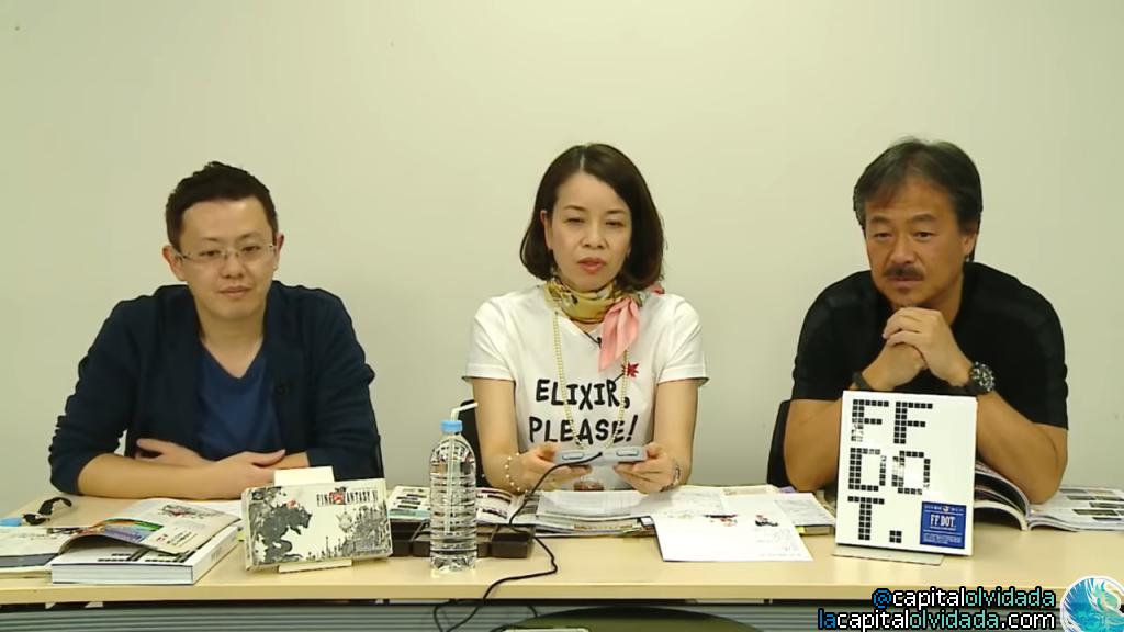 Sakaguchi con Shibuya junto al editor de Famitsu